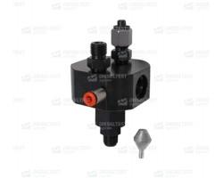 Переходник с фильтром Bosch высокого давления для проверки насосов СР2-СР4, монтируется на Rail. DL-UNI30828