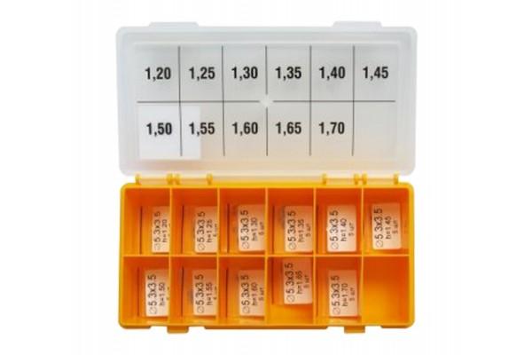Шайбы регулировочные Ø3.5X5.3, H1.2-1.7, шаг 0,05 — DL08CR5-244