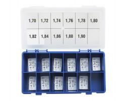 Шайбы регулировочные Ø2.5X4.5, H1.7-1.9, шаг 0,02 — DL120CR-120