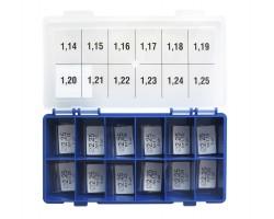 Шайбы регулировочные Ø2.25, H1.14-1.25, шаг 0.01 — DL16CR-232