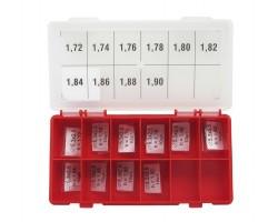 Шайбы регулировочные Ø2.4x5.3, H1.72-1.9, шаг 0.02 — DL20CR-272