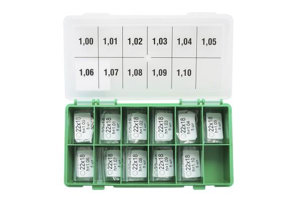 Шайбы регулировочные Ø18x22, H1.0-1.1, шаг 0.01 — DL25CR-288