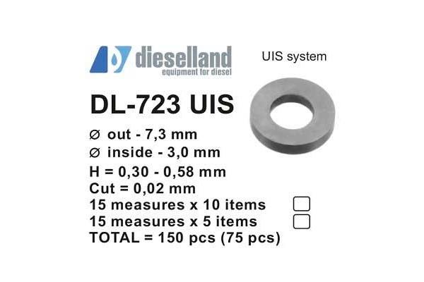 Шайбы регулировочные Ø7.3X3, H0.3-0.58, шаг 0.02 — DL-723 UIS