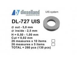 Шайбы регулировочные Ø5x2.5, H0.5-1, шаг 0.02 — DL-727 UIS