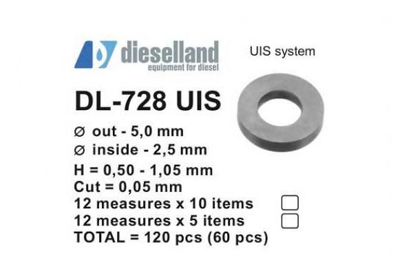 Шайбы регулировочные Ø5x2.5, H0.5-1.05, шаг 0.05 — DL-728 UIS