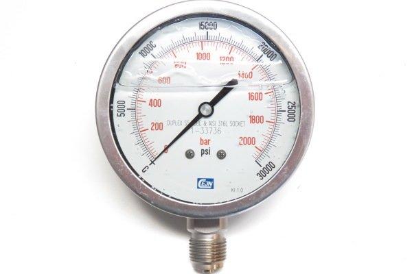 Коррозионностойкий манометр высокого давления до 2000 бар — DL-CR14P2000