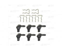 Комплект из 6 штуцеров для обратки форсунок Bosch — DL-KLB06