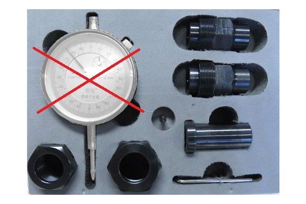 Комплект адаптеров без индикаторной головки для измерения хода клапана форсунок CR VDO Siemens всех типов — DL-CR50166