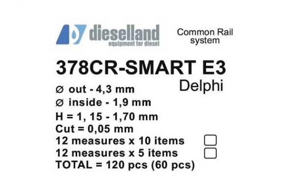 Шайбы регулировочные Ø4.3x1.9, H1.15-1.70, шаг 0.05 — DL-378CR-SMART E3