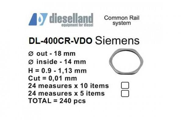 Шайбы регулировочные Ø18x14, H0.9-1.13, шаг 0.01 — DL-400CR-VDO