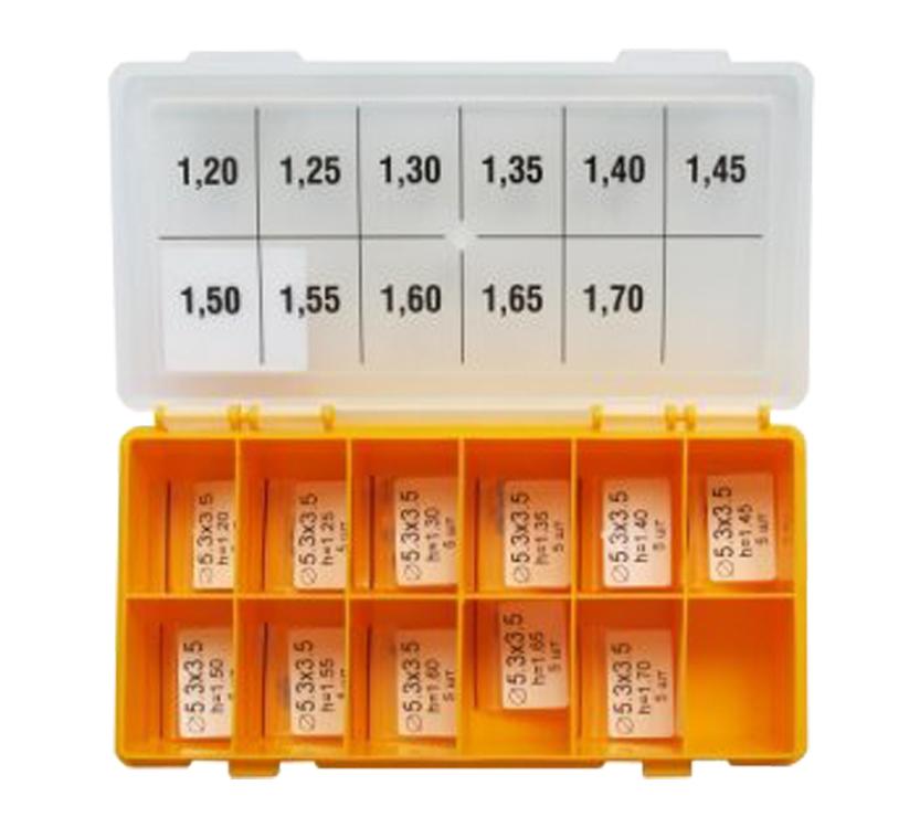 Шайбы регулировочные Ø3.5X5.3, H1.2-1.7, шаг 0,05